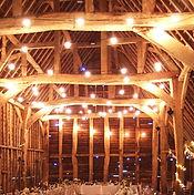 Simple festoon lighting in a barn