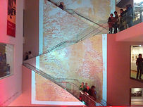 Large projection at the ashmolean museum for an event