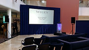 Projection hire at Wiley Oxford