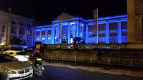 CORE Battery LED uplighters lighting the Ashmolean museum event