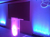 Custom conference set built for an event