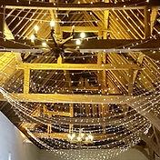 Fairy light canopy at ufton court