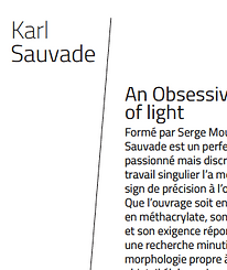 Alta Volta / dossier presse Karl Sauvade