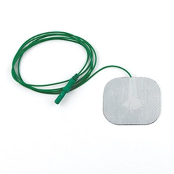 Value Line Disposable Ground Plate Adhesive Electrode with Lead Wire Attached, 3