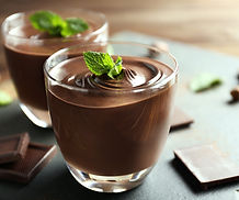 Pure chocolade mousse