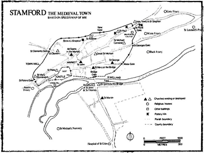 map of medieval stamford