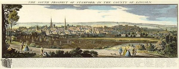 The South Prospect of Stamford by Samuel and Nathaniel Buck 1743