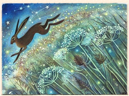Autumn Peace And A Starlight Hare