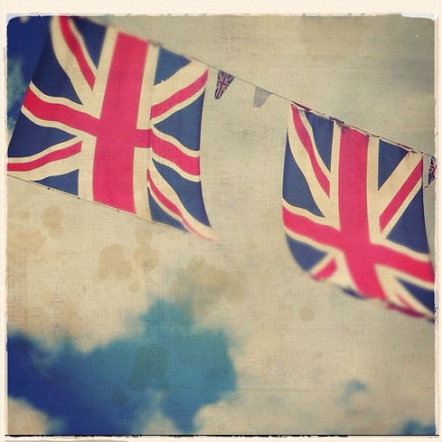 union jack and bunting