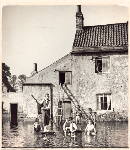Flooding in Bath Row. Date unknown.