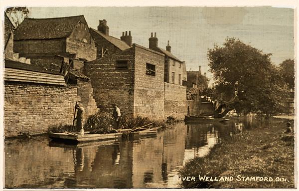 Mill stream, Stamford, 1900
