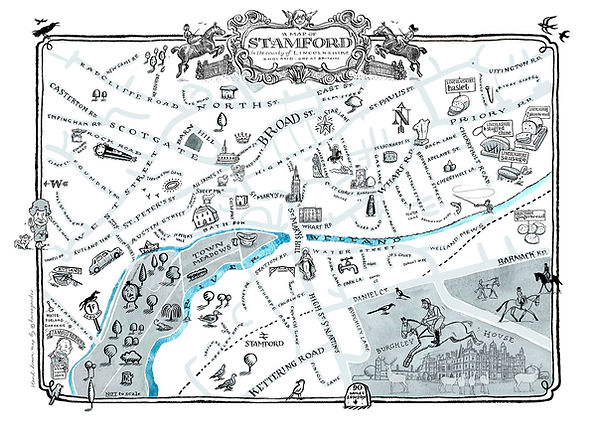 map of stamford by Peter Gander