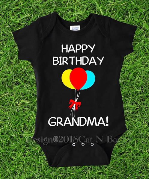Happy Birthday Grandma Baby Bodysuit Toddler Shirt