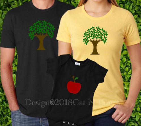 0b9b7d95 Family Shirts, The Apple Doesn't Fall Far, Matching Family TShirts,