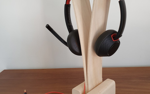 headphone stand in ash
