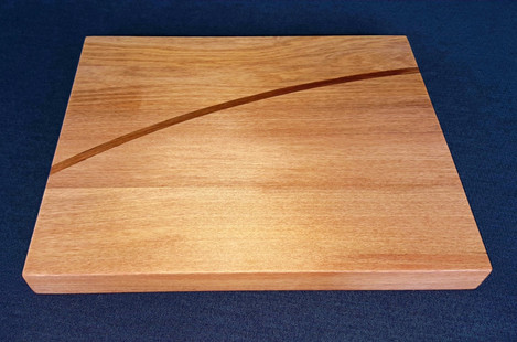 OB Rimu platter with steam bent contrasting heartwood rimu edged in a dark veneer. Size 285L x 232W x 217 (mm) Currently available $130