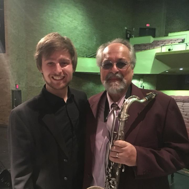 "After the gig with Joe Lovano. We performed ""A Love Supreme"", with Jim McNeely & the MSM Jazz Orchestra"