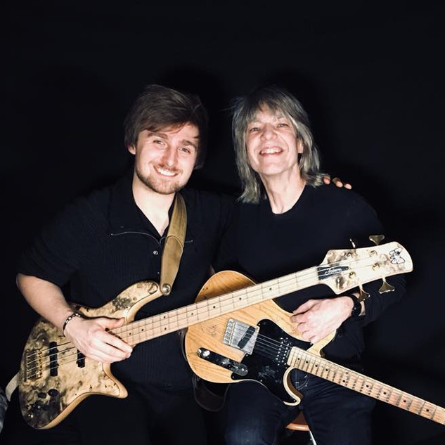 "My good friend Mike Stern & I after recording ""In The Style of Mike Stern"""