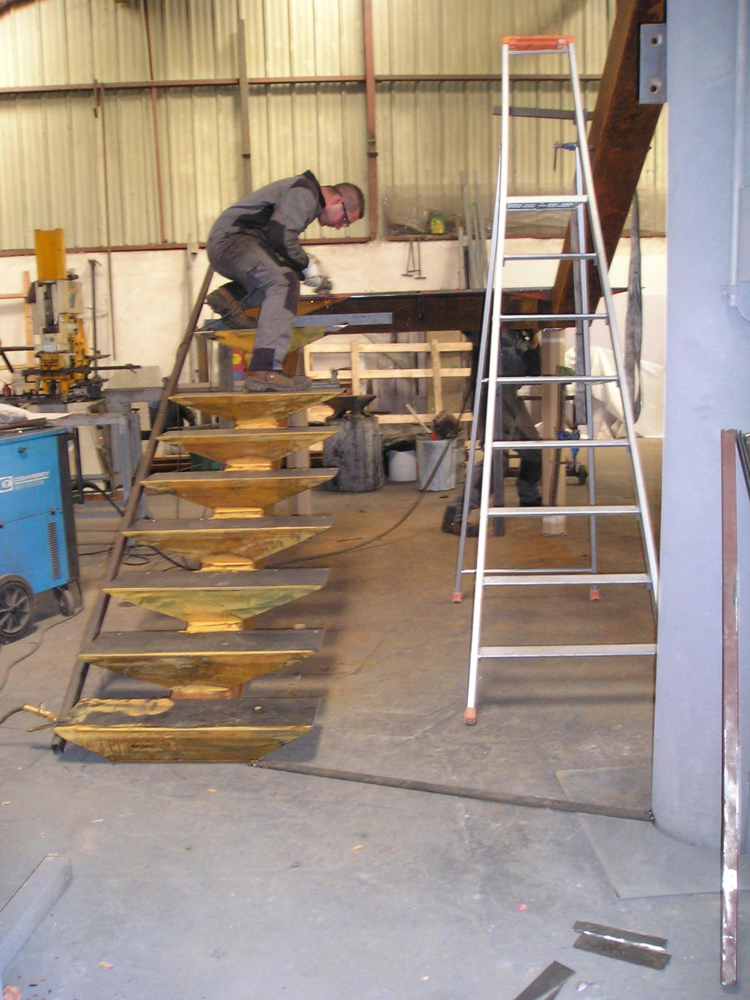 Escalier en Fabrication