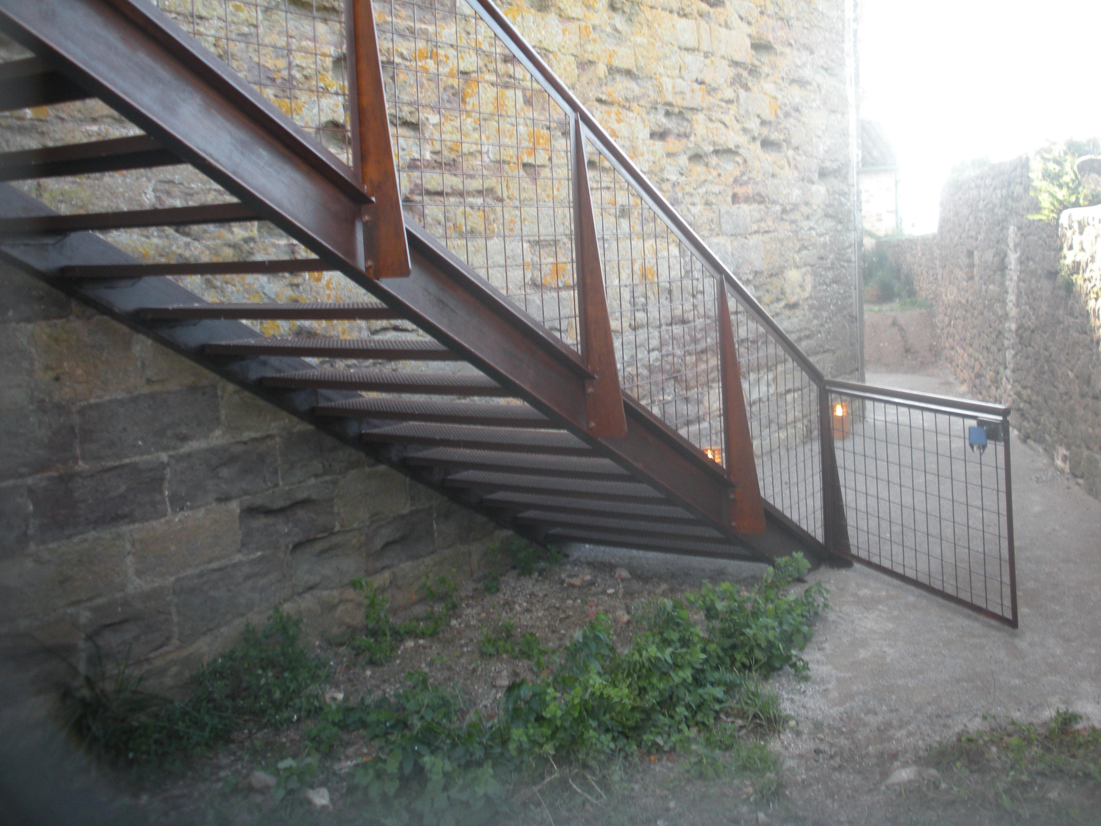 Escalier Aspect Rouillé
