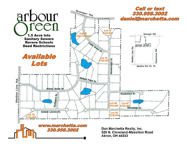 Arbour Green Mailbox Flyer with Prices 1