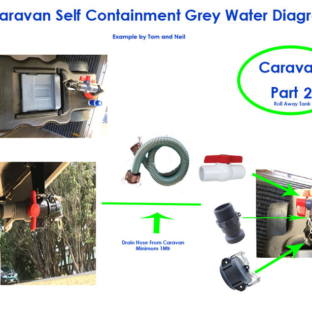 Caravan Drain Example Roll Away Tank