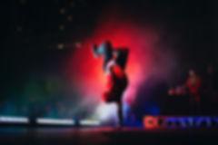 Hip Hop-Tänzer auf der Bühne