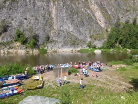 Сплав на реке Белая в Башкирии 2017 г.