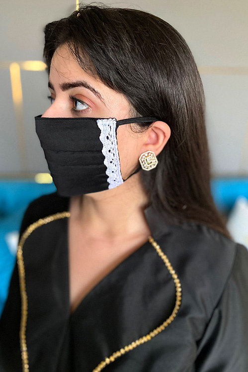 Black Queen Lace Mask