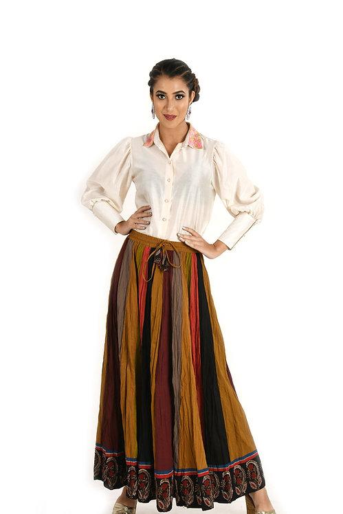 Multi Color Panel Skirt