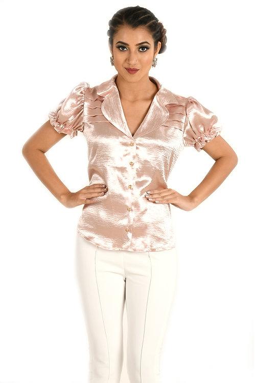 Metallic Pink Top