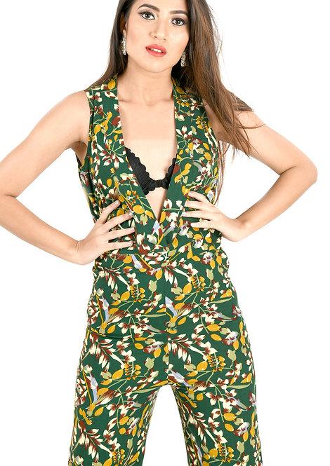 Tropical Green Jumpsuit