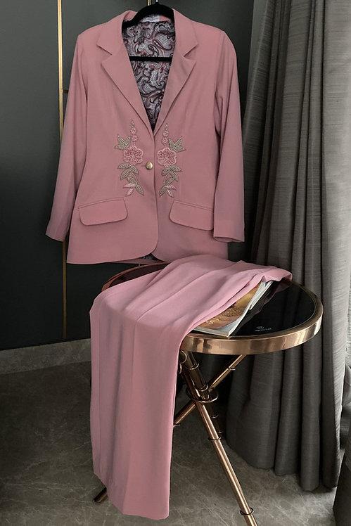 Rose Pink Blazer & Pants Co-ord Set