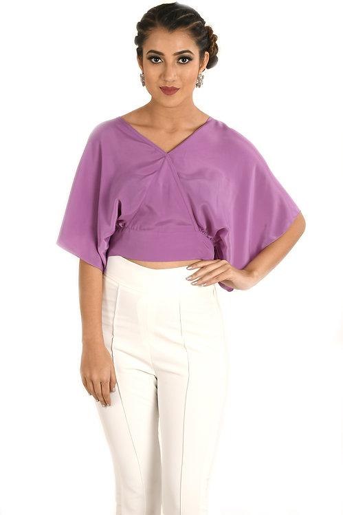 Lilac Wrap Top