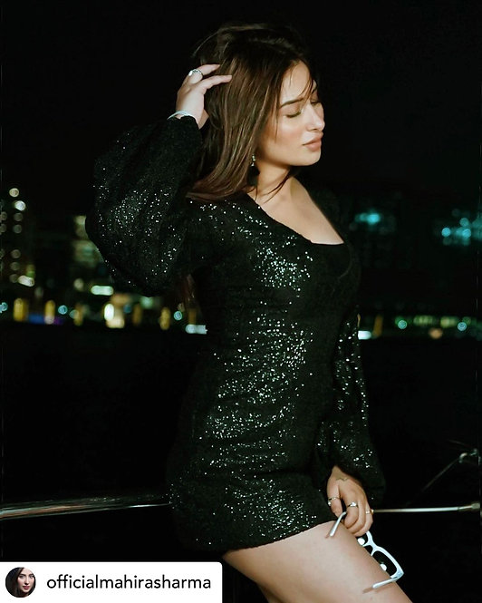 Kohl Black Sequined Dress