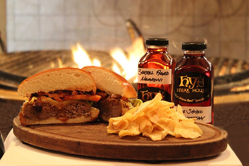 BOOZY BURGER SET FOR TWO