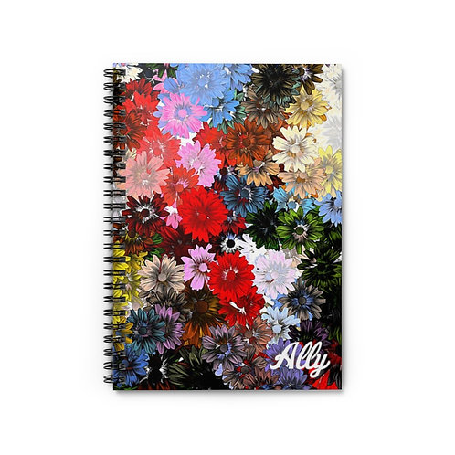 Flower Power Spiral Notebook - Ruled Line