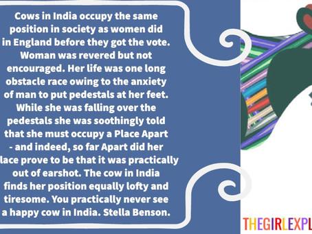 Stella Benson Quote, No Happy Cows