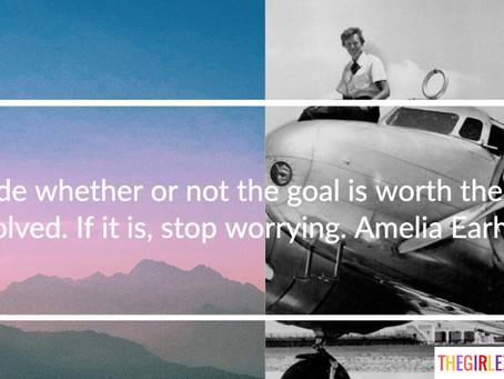 Amelia Earhart, on Risk
