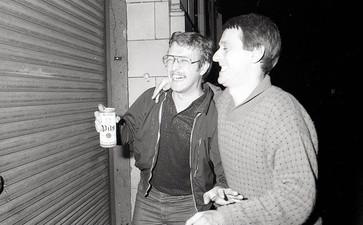 Jim Nelson and Wally Hammond ~ locking up...