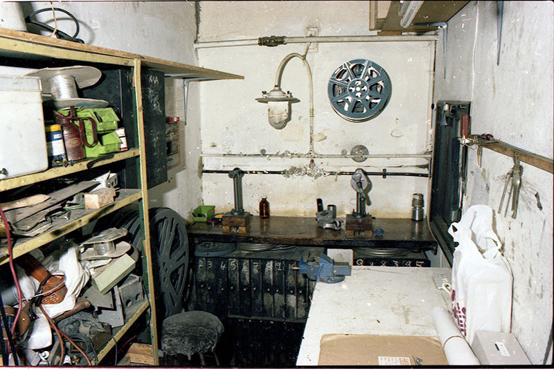Projection Box ~ rewind bench department