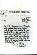 Letter from Michael Powell