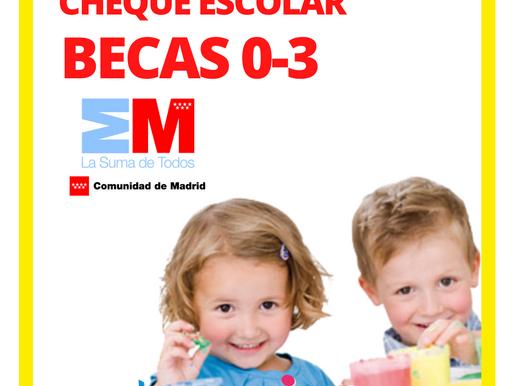 Beca Cheque Guardería de la Comunidad de Madrid