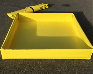 BMP's containment berms help with a wide variety of spill containment needs. These durable light weight berms can be easily rolled up and carried by hand to required locations.