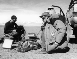 Sat comms and GPS in the desert
