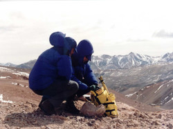 GPS surveying in the Atacama desert