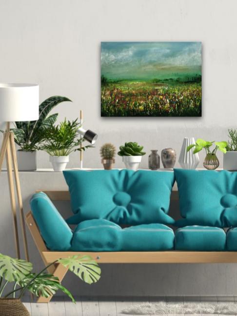 - Blossom Field- 70x50cm