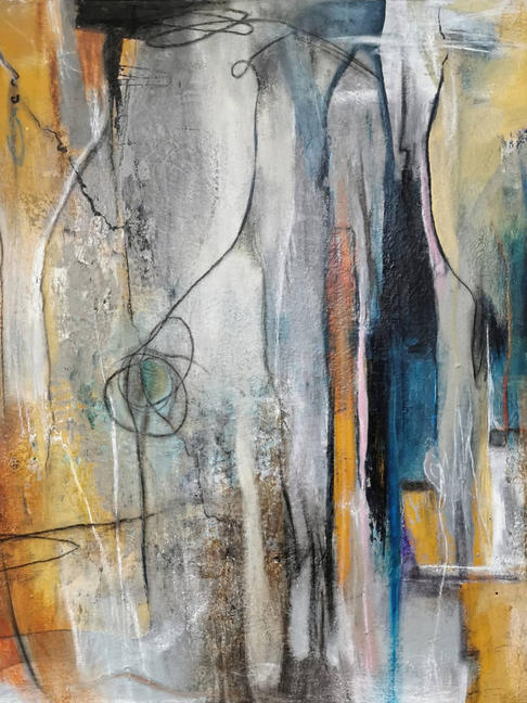 -New Ways- abstrakte Malerei in Acryl-Mischtechnik, original Kunstwerk