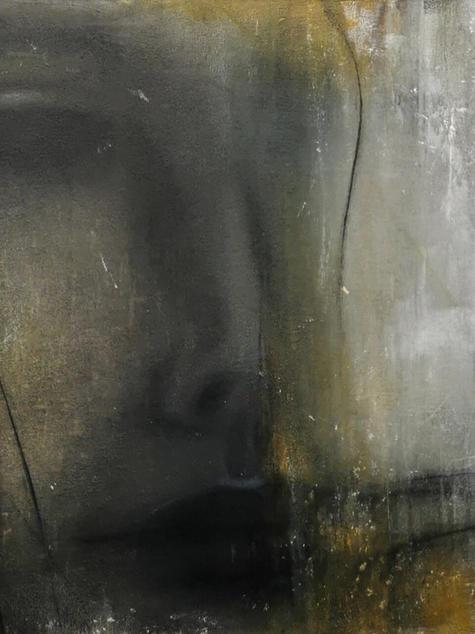 -Dreamer- abstrakte Malerei, Acryl Mischtechnik, Portrait