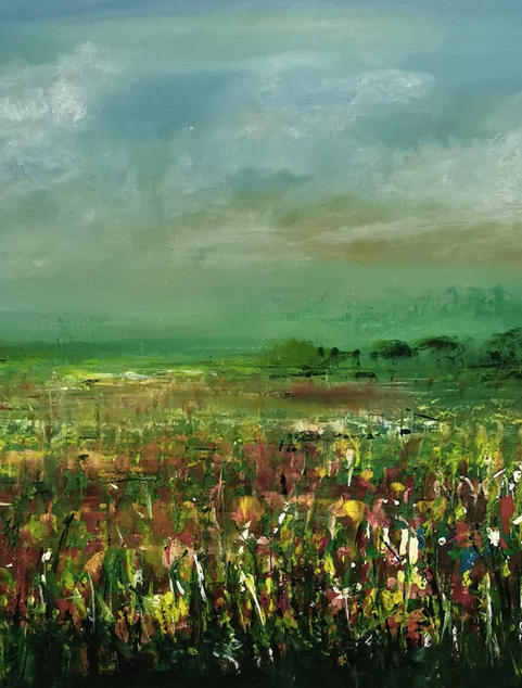 -Blossom Field- abstrakte Landschaft,